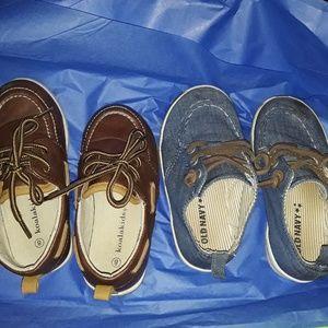 Baby Boy Boat Shoes Sz 8